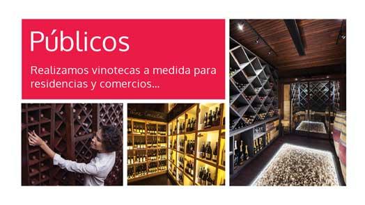 publico de vinoteca a medida