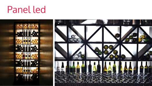 led panel wine bars